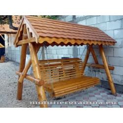 Balansoar din lemn cu acoperis ondulat