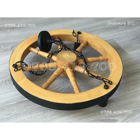 Candelabru din roti de lemn 60cm